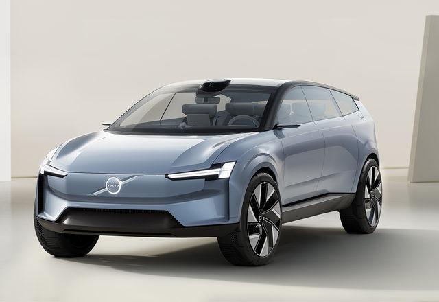 Volvo Concept Recharge'ın tasarımı