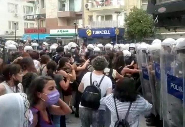'İstanbul Sözleşmesi' kararını protesto eden kadınlara biber gazlı müdahale