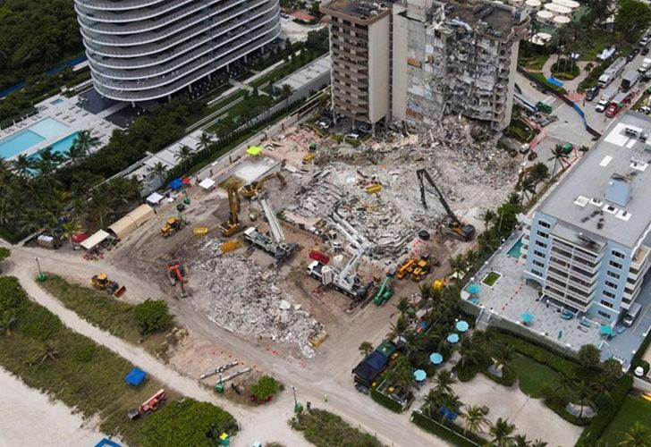 Miami'de çöken binada ölenlerin sayısı 20'ye çıktı