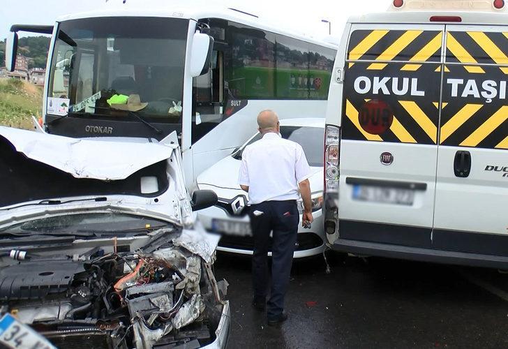 İstanbul'da zincirleme trafik kazası! Yol trafiğe kapandı