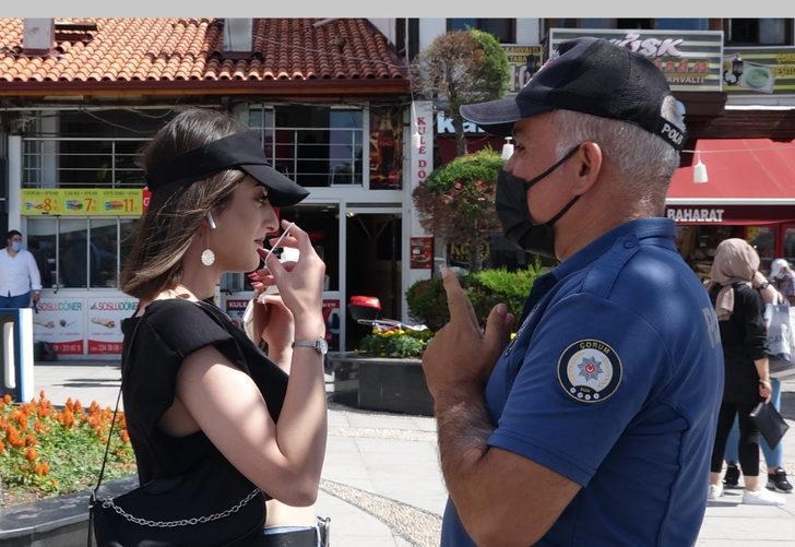 Maske takmadı, polisi görünce tepkisi şaşkına çevirdi: Takılmayacak diye biliyordum