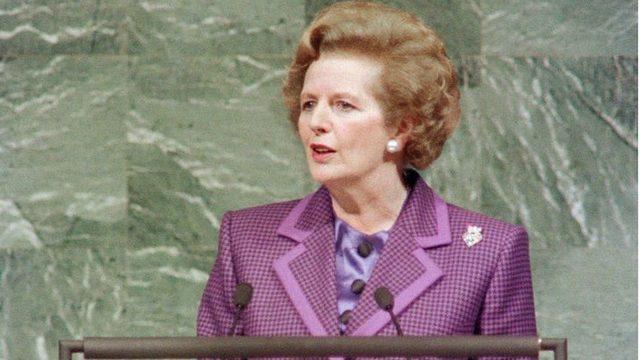 İngiltere'nin eski başbakanı Margaret Thatcher