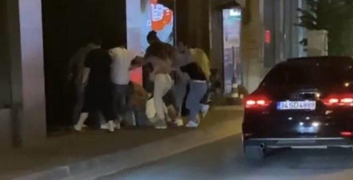 İstanbul'un göbeğinde kadına şiddet! Bir yumrukla yere serdi