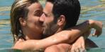 Ünlü sunucu yeni sevgilisini öpücüklere boğdu