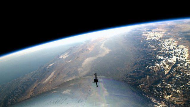 Dünya 100 kilometre yükseklikten böyle gözüküyor