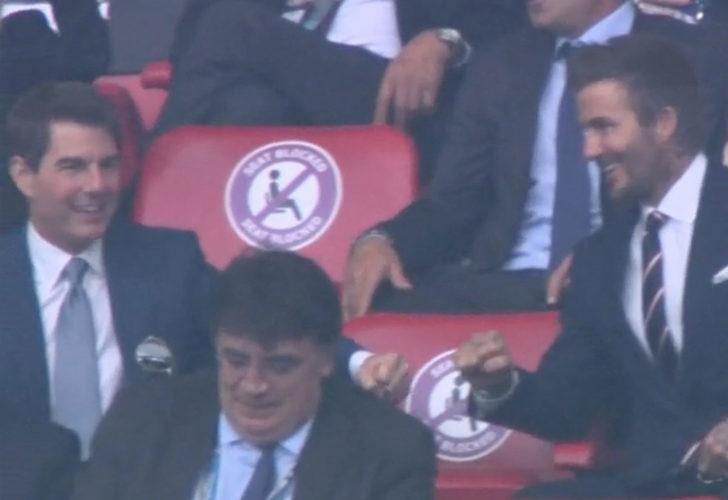David Beckham ve Tom Cruise'un gol sevinci!