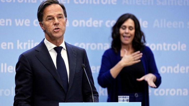 Hollanda'da vaka sayıları günlük 10 bini geçti, Başbakan Rutte erken gevşeme için halktan özür diledi