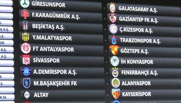 Süper Lig'de fikstür çekildi! İşte derbi haftaları