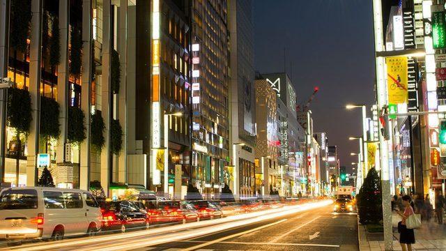 Japonya'da bir cadde