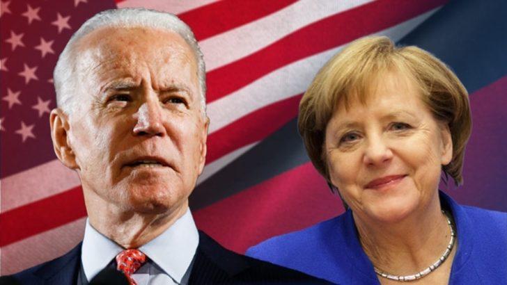 Biden ve Merkel Beyaz Saray'da Görüşüyor