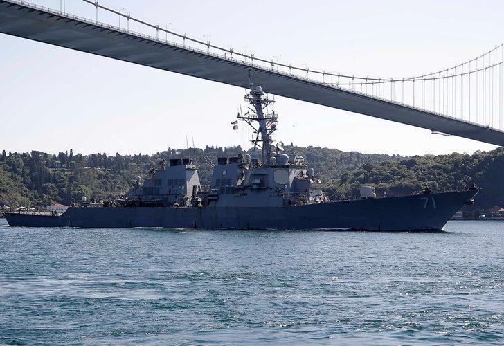 ABD savaş gemisi 21 gün sonra Karadeniz'den ayrıldı
