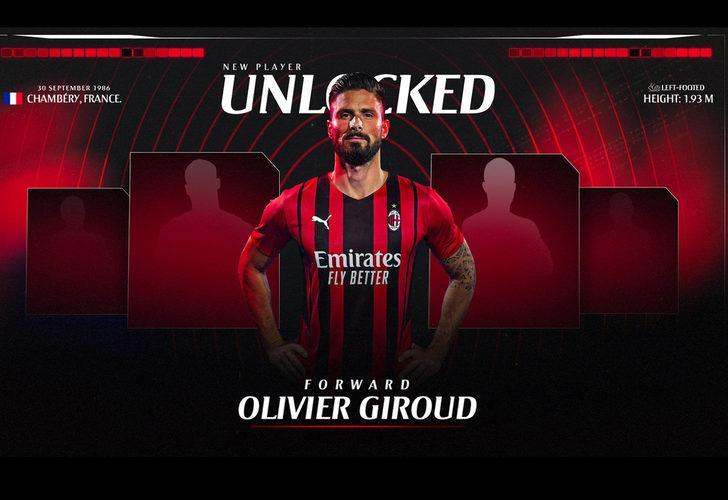 Yıldız forvet Olivier Giroud resmen Milan'da