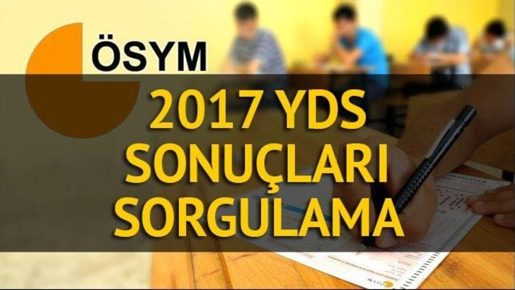 YDS sonuçları 2017: ÖSYM YDS sonuçları sorgulama sayfası (2017- YDS sonbahar dönemi sonuçları)