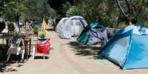 Kamplar tatilcilerle dolup taştı! Çadır kuracak yer kalmadı
