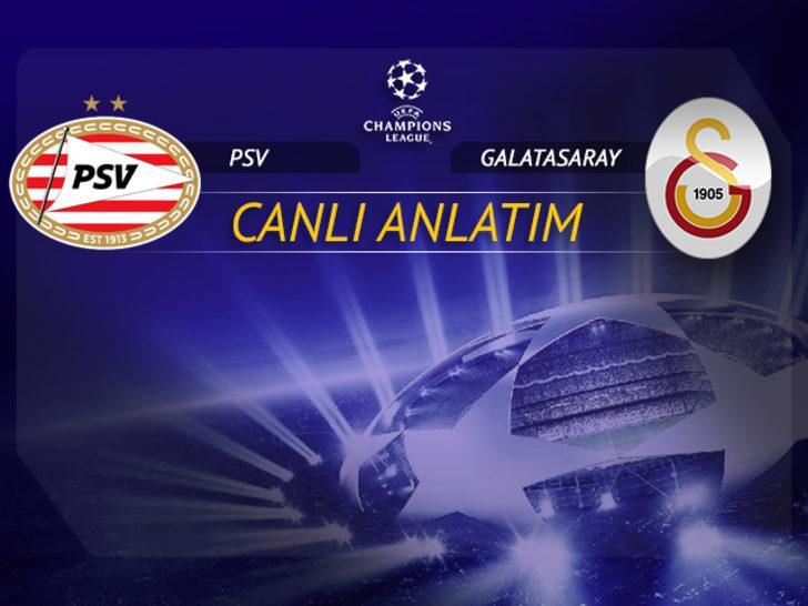PSV - Galatasaray maçının 11'leri belli oldu