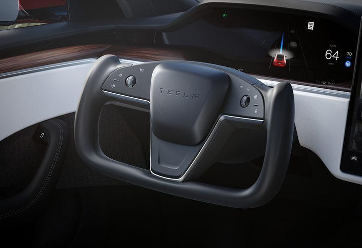 Elon Musk doğruladı: Tesla Model S Plaid'te yarım direksiyon standart!
