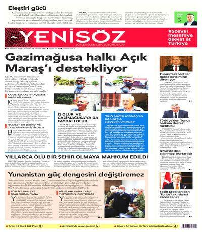 Yeni Söz Gazetesi oku