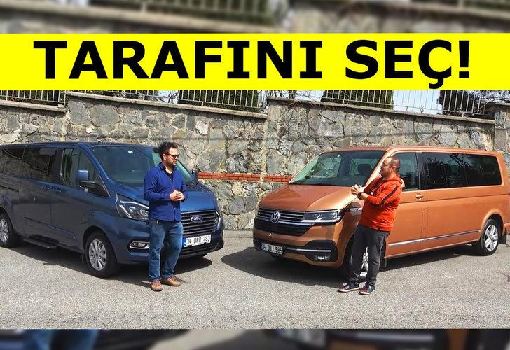 Tarafını seç! Volkswagen Caravelle vs Ford Tourneo Custom