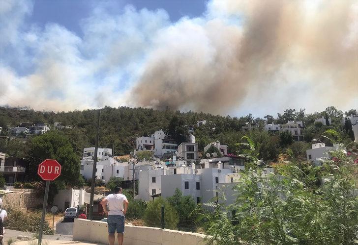 Bodrum, Marmaris ve Köyceğiz'de yangın felaketi devam ediyor