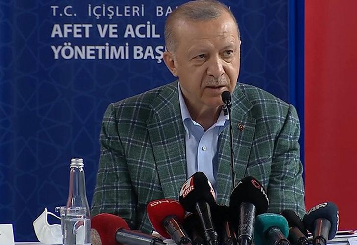 Son Dakika: Cumhurbaşkanı Erdoğan afet bölgesinde yapılacak yardımları açıkladı