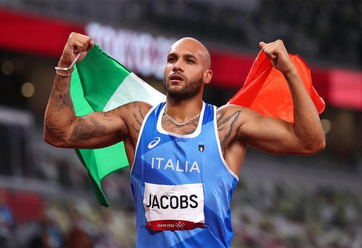 Erkekler 100 metrede altın madalya Marcell Jacobs'a gitti!