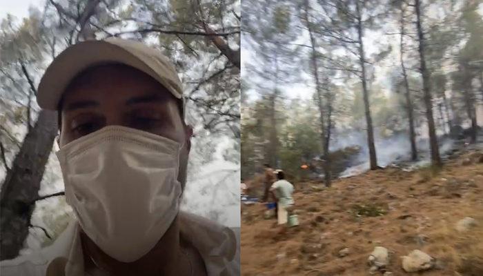 Son Yaz'ın Akgün'ü Alperen Duymaz, yangın söndürme çalışmalarına katıldı