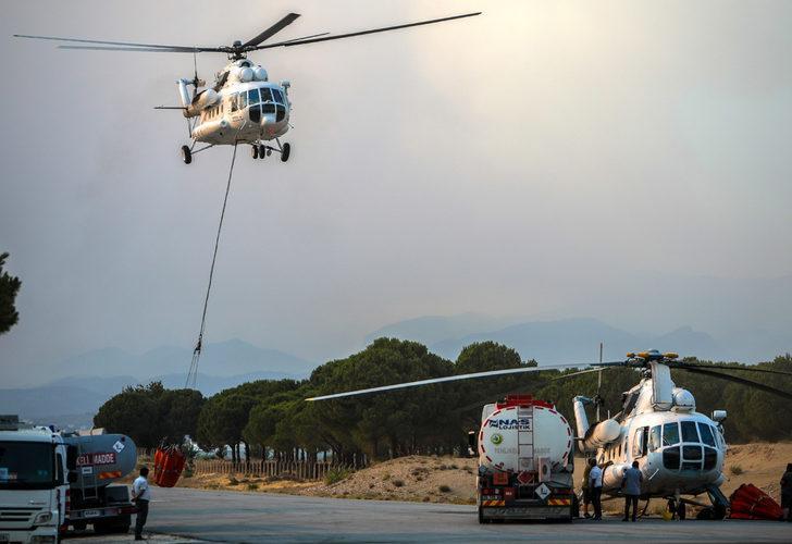 Manavgat'taki yangında kullanılan helikopterler: Ateş kuşları
