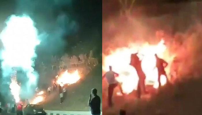 İzmir'de akılalmaz olay: Düğünde atılan havai fişek yangına sebep oldu thumbnail