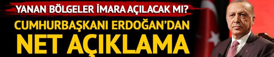 Cumhurbaşkanı Erdoğan yangınlarla ilgili son durumu açıkladı
