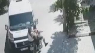 Genç çiftin ölümden döndüğü feci anlar saniye saniye kamerada
