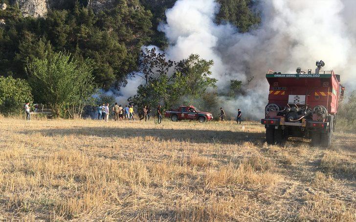 Bilecik'te bağ evinde çıkan yangın söndürüldü