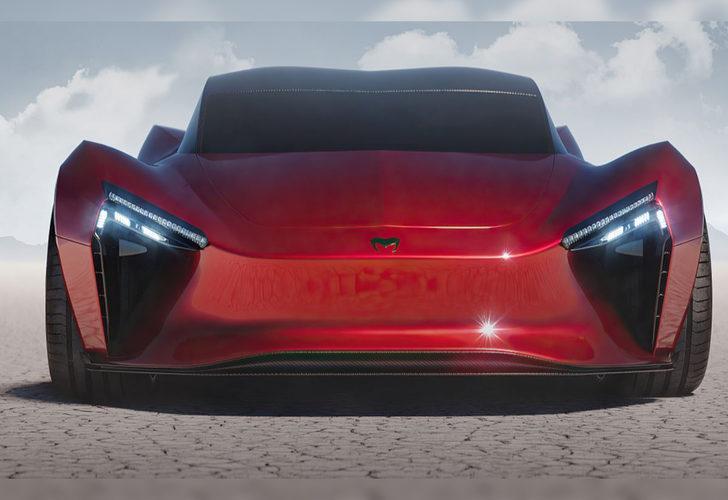 Hindistan'ın yeni hiper otomobili Mean Metal Motors Azani'nin örtüsü kaldırıldı