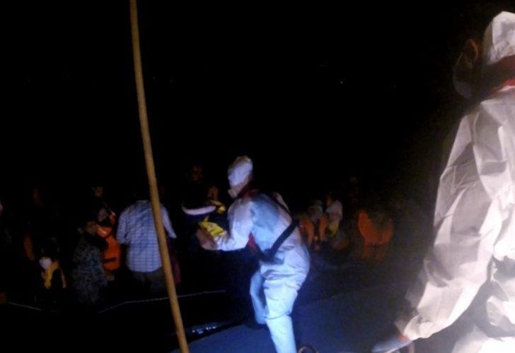 Çanakkale'de 47 göçmen kurtarıldı