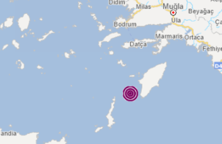 Son dakika: Muğla'nın Datça ilçesi açıklarında 3.8 büyüklüğünde deprem