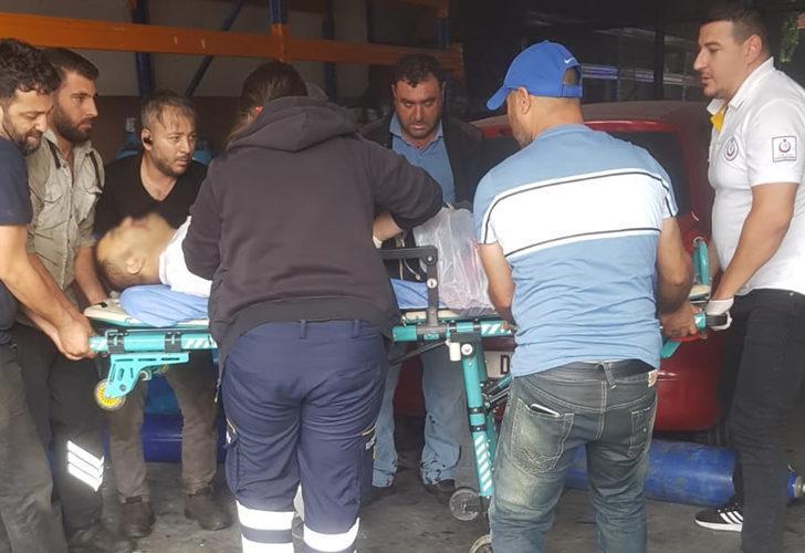 Esenyurt'ta sanayi sitesinde tüp patladı! 1 işçinin bacağı koptu