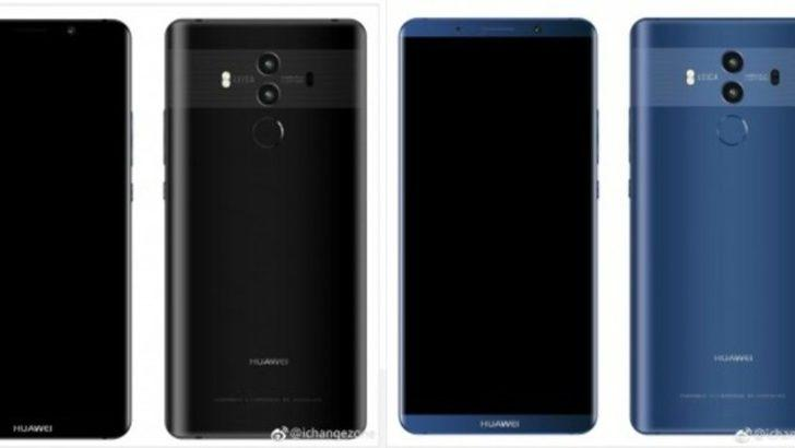 Huawei Mate 10'un tasarım çizgisi belli oldu