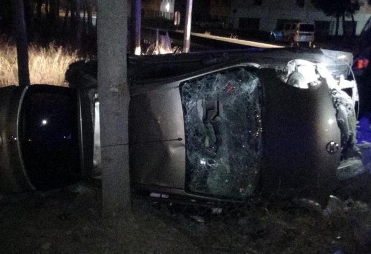 İzmir'de düğün dönüşü feci kaza! 4 yaralı