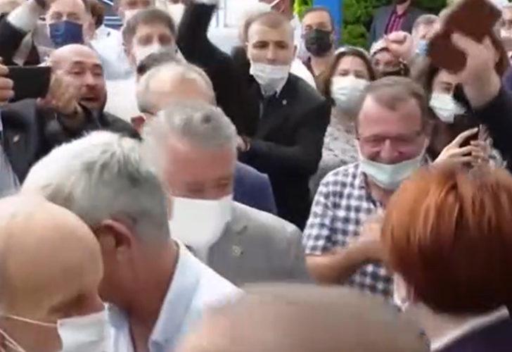 """Trabzon'da """"Cumhurbaşkanı Meral Akşener"""" sloganları"""