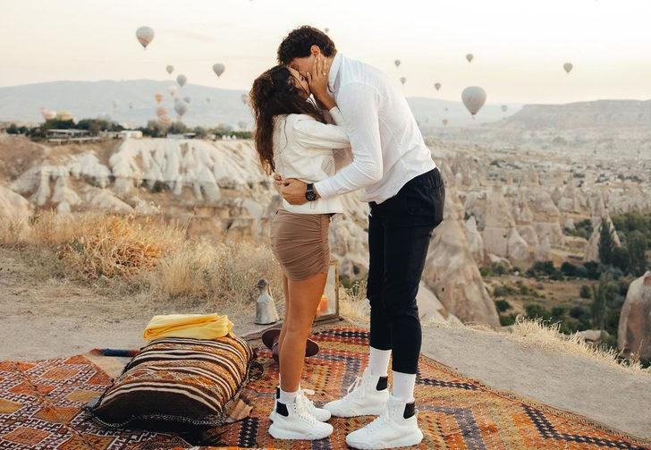 Ebru Şahin ve Cedi Osman evleniyor! Kapadokya'da romantik evlilik teklifi