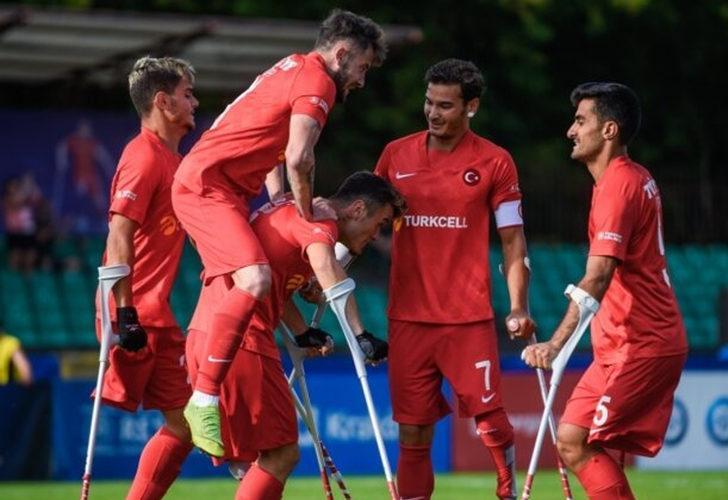 Ampute Milli Futbol Takımı, 11-0 ile çeyrek finalde