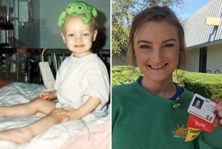 Çocukken kanserle mücadele ettiği hastanede kanseri yendi, şimdi hemşirelik yapıyor