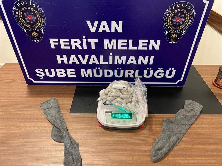 Van'da uyuşturucuyla uçağa binmeye çalışan zanlı gözaltına alındı