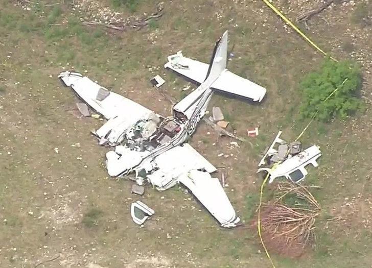 ABD'de askeri eğitim uçağı evlerin üzerine düştü: 5 yaralı