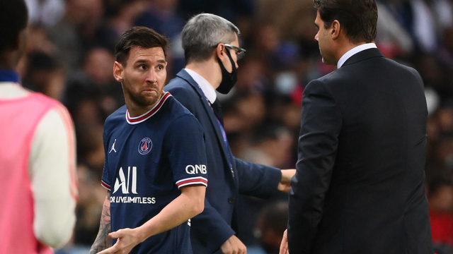 PSG'de kriz! Oyundan alınan Messi'den tepki