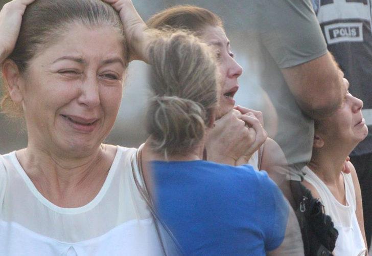 Komşuları haber verdi, evindeki yangını gözyaşlarıyla izledi