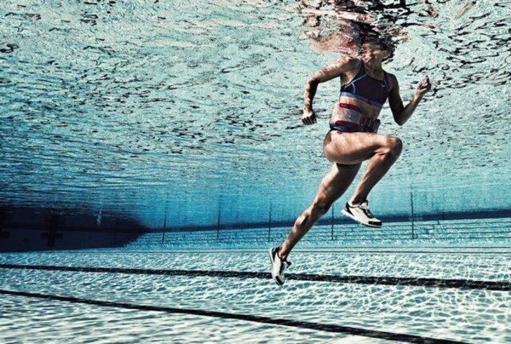 Suda egzersizle kalbe sağlık depolayın