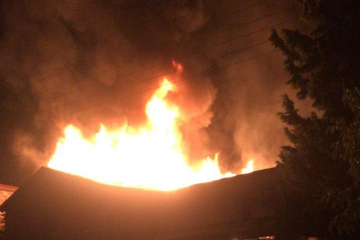 Siverek'te araç yangını