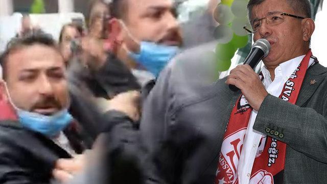 Davutoğlu'nun ziyaretinde gergin anlar: Kime konuşuyorsun 10 kişi var