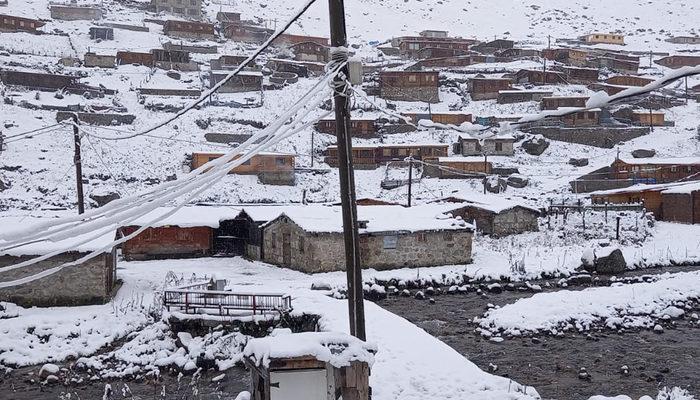 Beklenen kar yağdı! Doğu Karadeniz'de yaylalar beyaza büründü