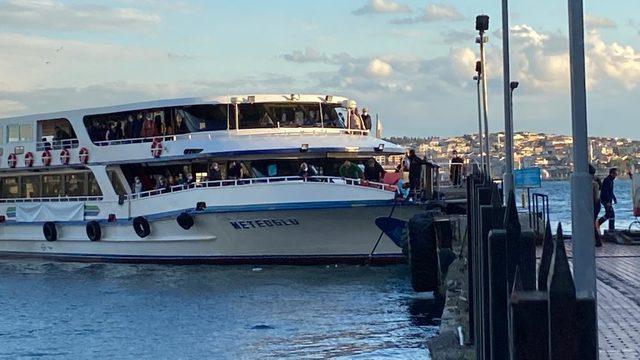 Beşiktaş iskelesinde can pazarı! Vapurdan denize atladı